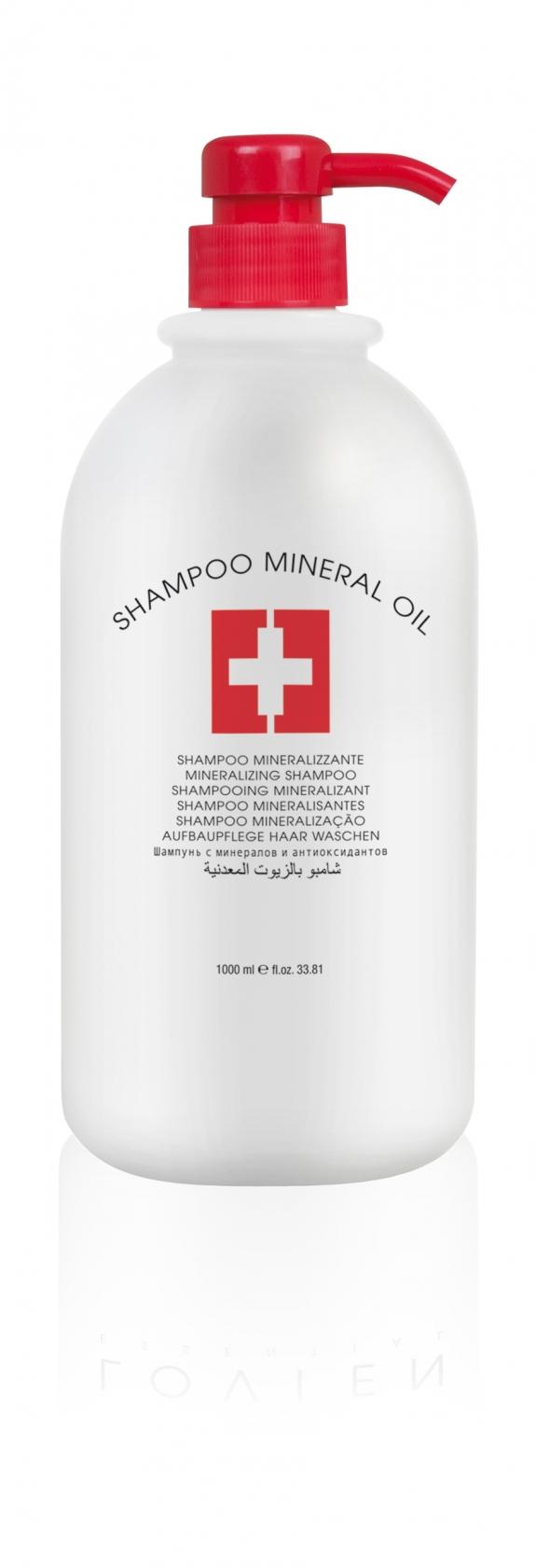 L´OVIEN ESSENTIAL/Shampoo Mineral Oil regenerační šampon pro poškozené vlasy 1000 ml