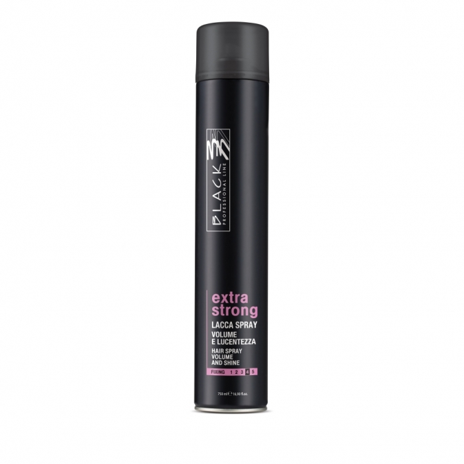 Black Lacca Per Capelli Extra strong 750 ml - lak s extra silnou fixací