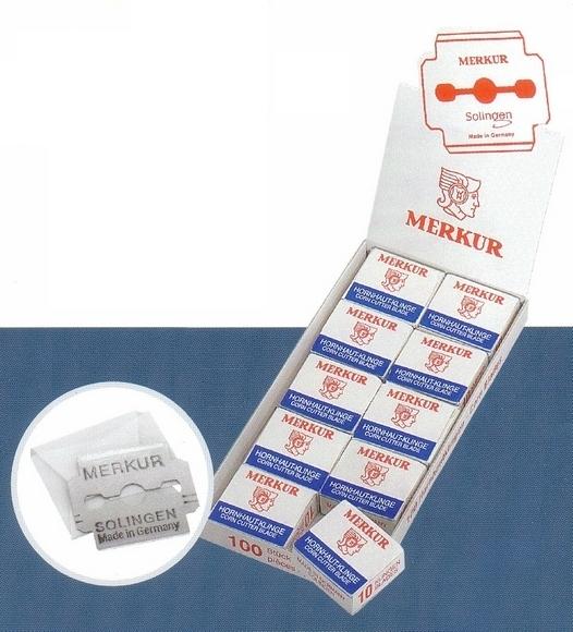 Pedikérské žiletky 920 000 MERKUR Solingen 10 ks