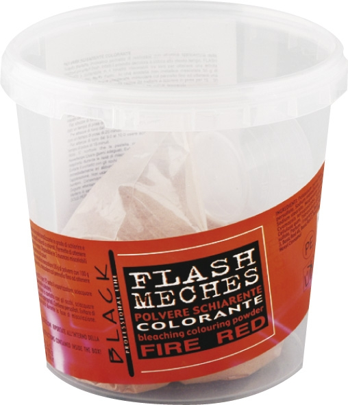 Black Flash Meches Colorante Fire Red 250g
