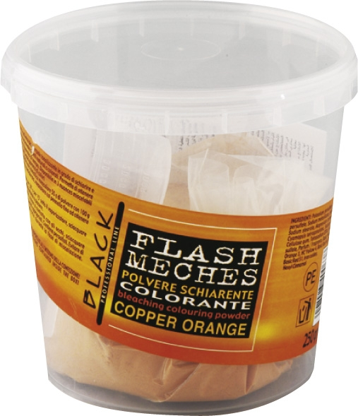Black Flash Meches Colorante Cooper Orange 250g