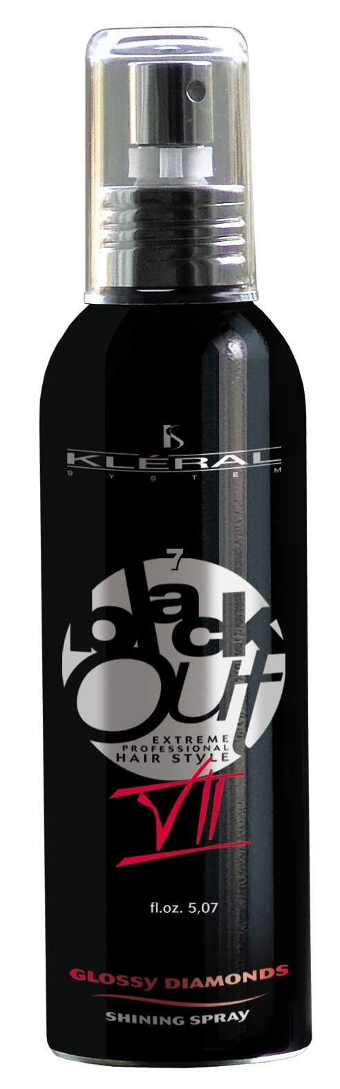 Kléral System Black Out Glossy Diamonds VII 150 ml - lesk na vlasy
