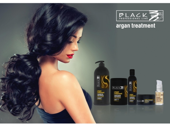 Black Argan Treatment Shampoo 1000 ml - arganový šampon