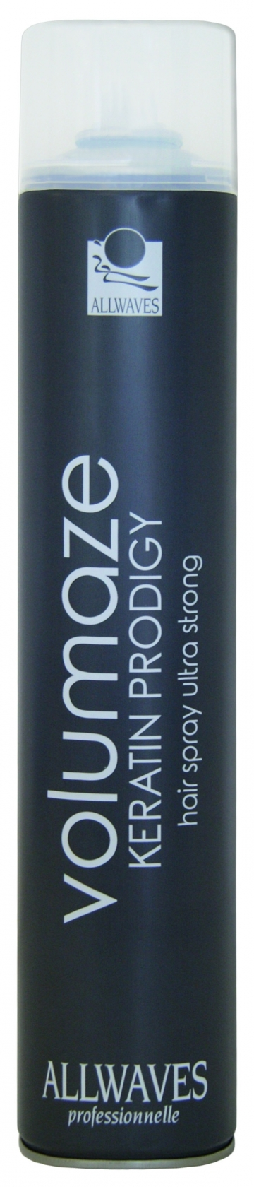 Allwaves Volumaze Keratin Prodigy Hair Spray Ultra Strong 750 ml - objemový lak na vlasy s keratinem