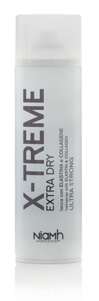 Niamh Hairkoncept X-Treme Extra Dry Hairspray With Elastin & Collagen Ultra Strong 500 ml
