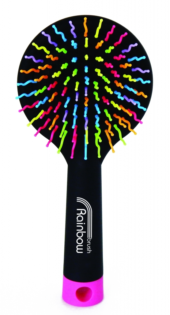 Rainbow Brush Large Black - rozčesávací kartáč