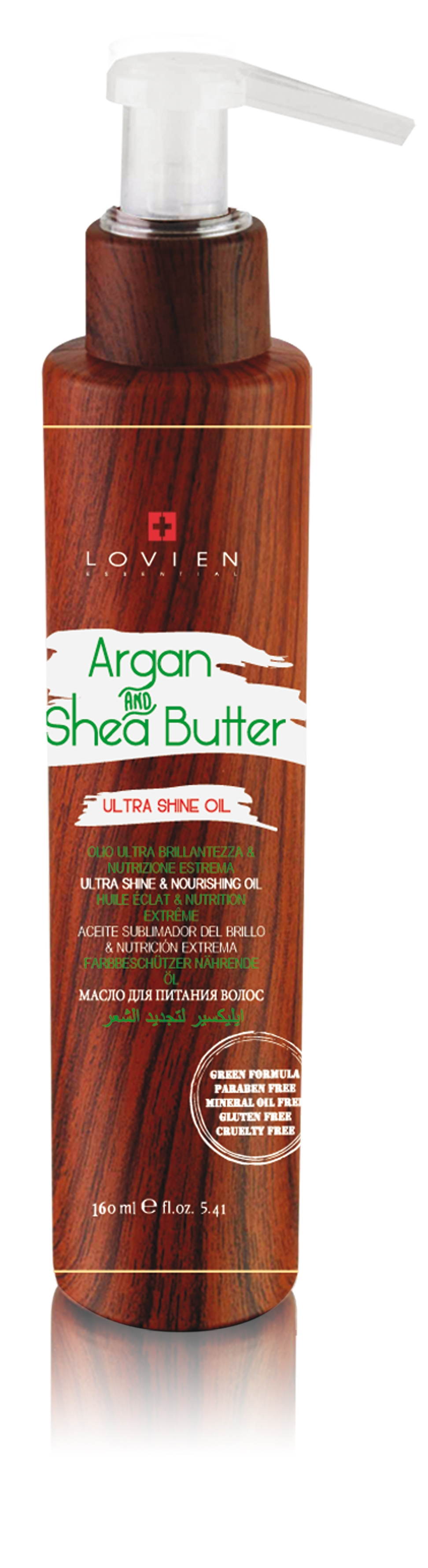 Lovien Argan Oil & Shea Butter Nourishing Oil 160 ml - olejové sérum na vlasy
