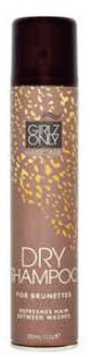 GIRLZ ONLY dry shampoo BROWN hair 200 ml - suchý šampon