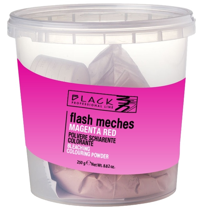 Black Flash Meches Colorante Red Magenta 250g